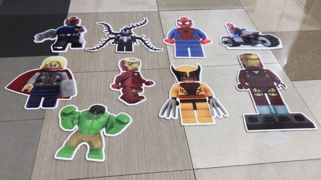 Super heroes on foam board