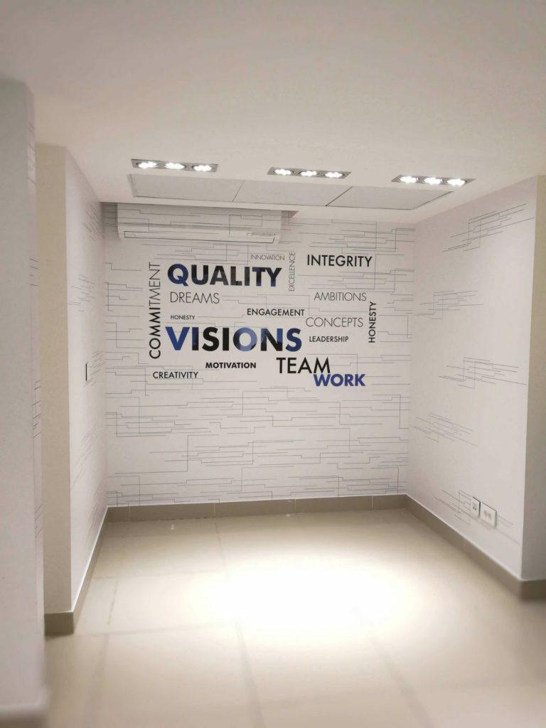 indoor vinyl wall